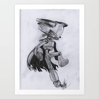 flcl Art Prints featuring Lord Canti by Alonzo Hdz