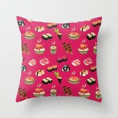 Pink Sushi Throw Pillow
