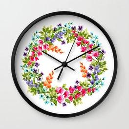 Wildflower Queen Wall Clock