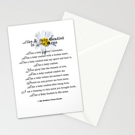 Like Baby Cradled In His Arms Poem Stationery Cards