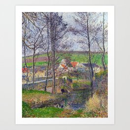 Camille Pissarro Banks of the Viosne Art Print