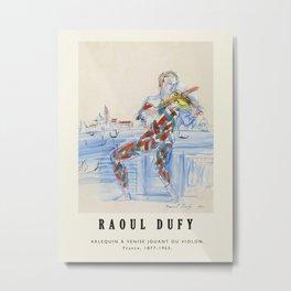 Poster-Raoul Dufy-Arlequin à Venise jouant du violon. Metal Print