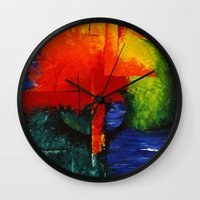 shell Wall Clocks featuring shell by sewec