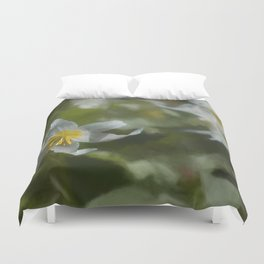 Avalanche Lily Painterly Duvet Cover
