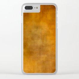 Grunge orange background Clear iPhone Case