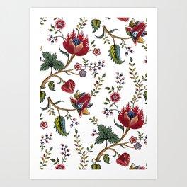 bohemian pattern Art Print