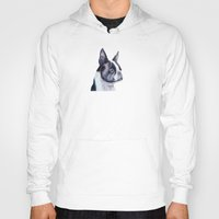 terrier Hoodies featuring Boston terrier by Doggyshop