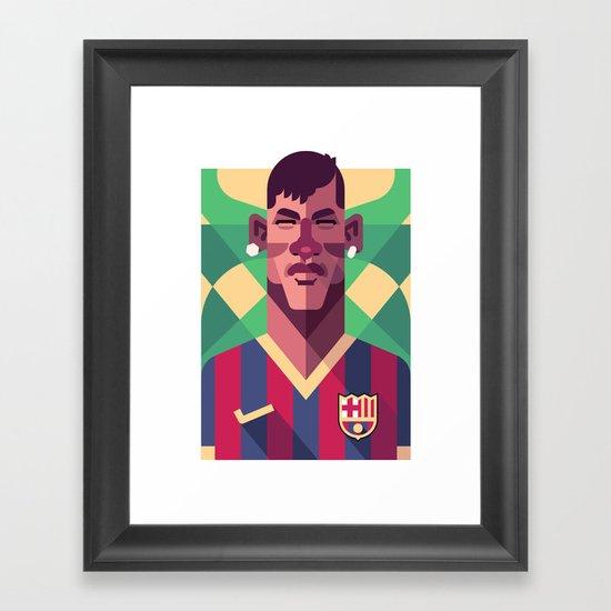 N11   Blaugrana Framed Art Print