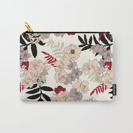Sweet Floral neutral Carry-All Pouch