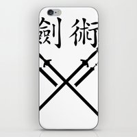 sword iPhone & iPod Skins featuring China Sword by Littlebell