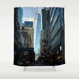 Downtown Giant Shower Curtain