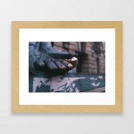 Gold Toe Framed Art Print