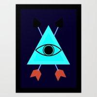 illuminati Art Prints featuring Illuminati by Lucas de Souza