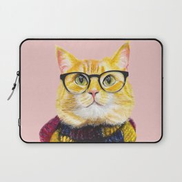 Bob the cat with glasses Laptop Sleeve