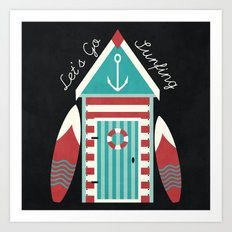 Let's Go Surfing. Art Print