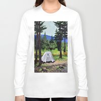 camp Long Sleeve T-shirts featuring Camp by Kira Yustak