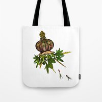 jellyfish Tote Bags featuring Jellyfish by Sybille Sterk