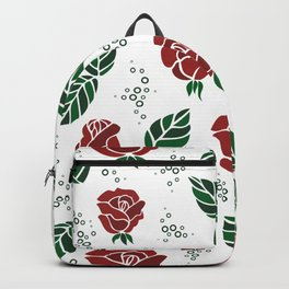 Background with roses Backpack