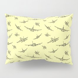 Airplanes on Yellow Pillow Sham