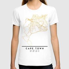 CAPE TOWN SOUTH AFRICA CITY STREET MAP ART T-shirt