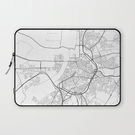Minimal City Maps - Map Of Antwerp, Belgium. Laptop Sleeve