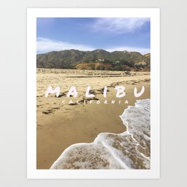 Malibu WITH TEXT Art Print