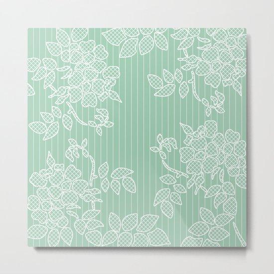 SPRING IN GREEN Metal Print