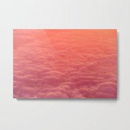 Surfing Pink Clouds Metal Print