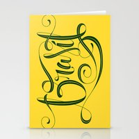 brasil Stationery Cards featuring BRASIL by Roberlan Borges