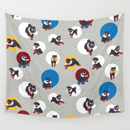 Pug Party Wall Tapestry