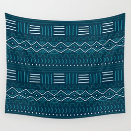 Mudcloth on Teal Wall Tapestry