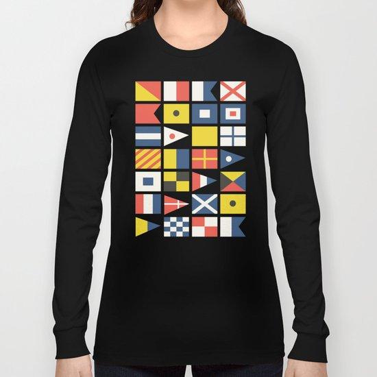 Geometric Nautical flag and pennant Long Sleeve T-shirt