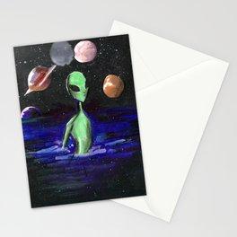 alien alone Stationery Cards