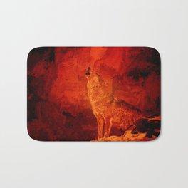 Fire Wolf Bath Mat