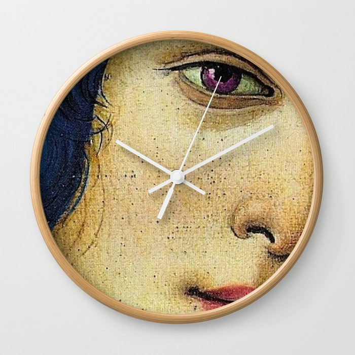 Of august gold-wreathed and beautiful. Wall Clock