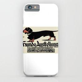 1905 German Dog Show Dachshund Poster iPhone Case
