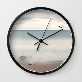 Solace Ocean Seaside Beach Neutral Fine Art Prints Gifts Wall Clock
