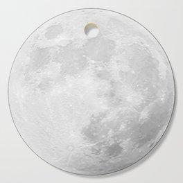 CHALK WHITE MOON Cutting Board