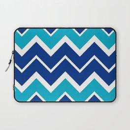 Big Chevron:  Blue + Turquoise Laptop Sleeve