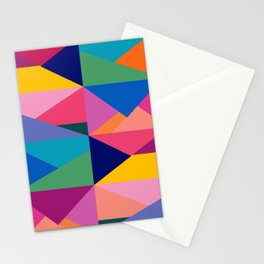 Geometric Color Block Stationery Cards