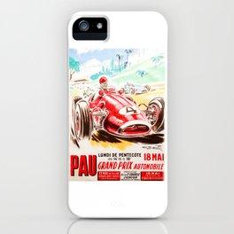 Grand Prix Pau, vintage poster, race poster iPhone Case