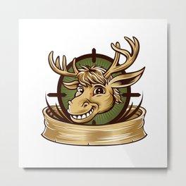 Cartoon Deer mascot  Metal Print