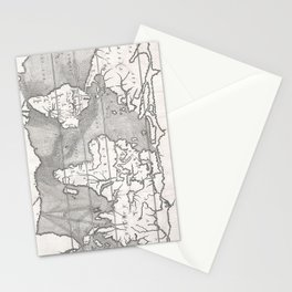 Vintage Map of The World (1665) Stationery Cards