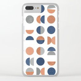 Geometric Circles Clear iPhone Case