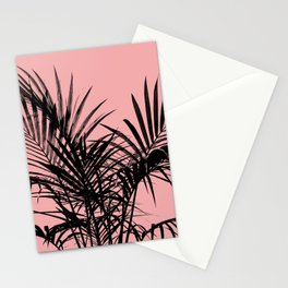 Little palm tree in black with peach Stationery Cards