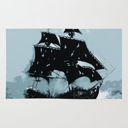 Pirate in Storm Rug