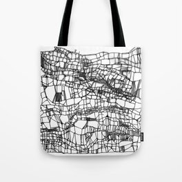 deconstructed knit Tote Bag