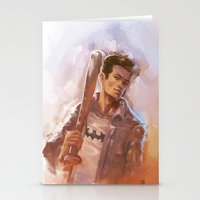 stiles stilinski Stationery Cards featuring [ STILES STILINSKI ] by AkiMao