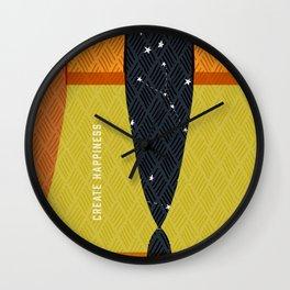 Create Happiness Modern Geometric Masculine Wall Clock