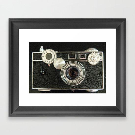 Vintage Range finder camera. Framed Art Print